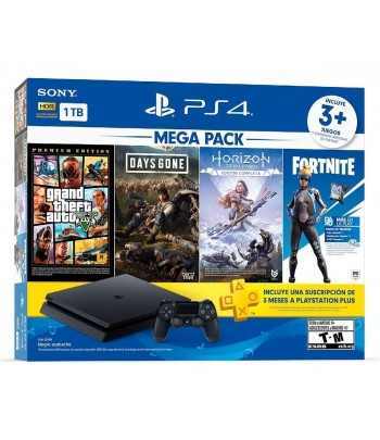 GAME PS4 1TB 2215B + JGS GTA 5 /GONE/HORI/FORTNIT.