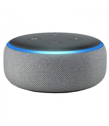 SPEAKER AMAZON ECHO DOT 3a GERACAO ALEXA PRATA .