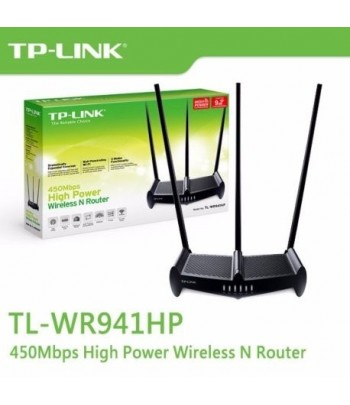 WIR. TP-LINK ROUTER TL-WR941HP 450MBPS 3x8DBI 3ANT