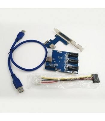AC PLACA  MULTIPLICADOR PCI-E RISER 1x3 (MR)
