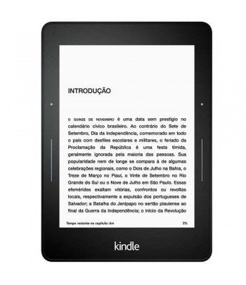 EBOOK LEITOR DIG KINDLE PAPERWHITE 6 PRETO
